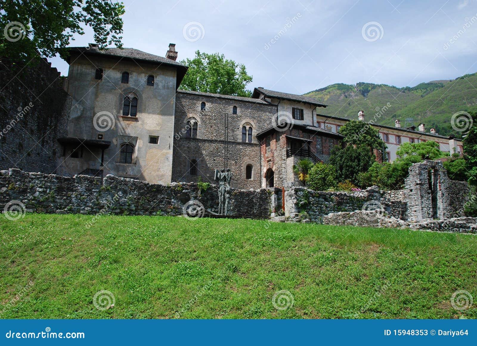 Castello Visconteo in Locarno, Ruines Teil