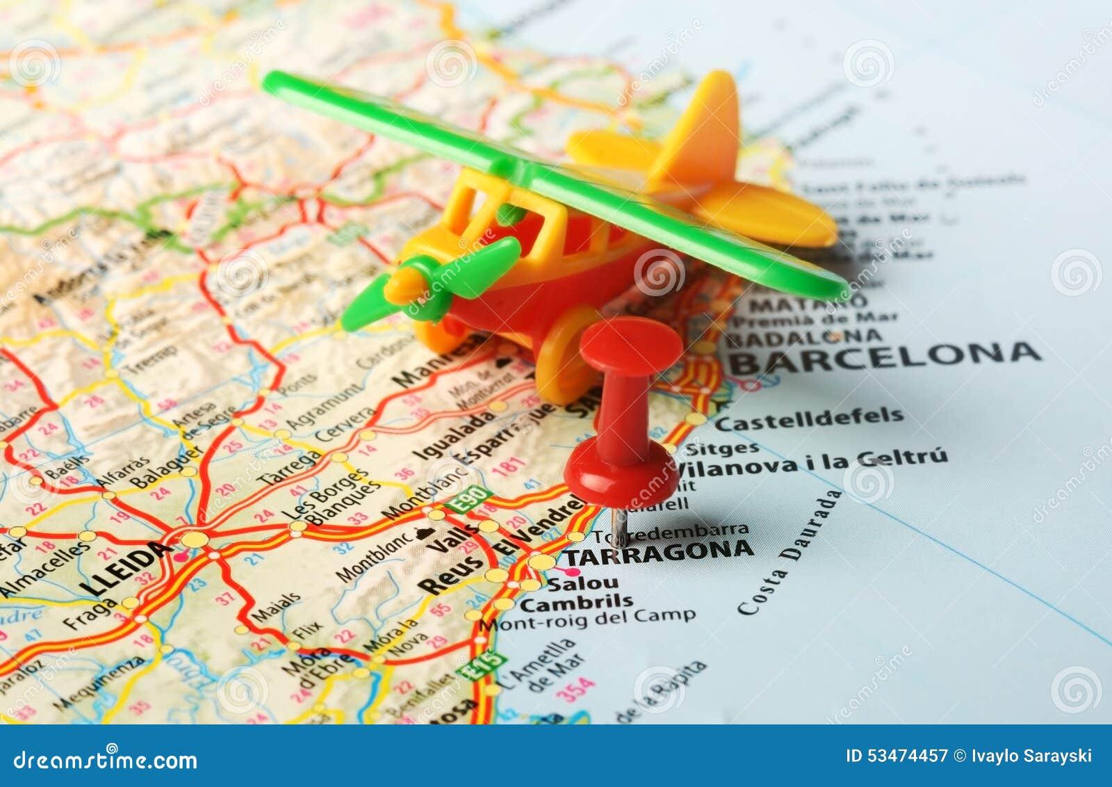 Castellon de la plana map airplane stock photo image - Muebles en castellon dela plana ...