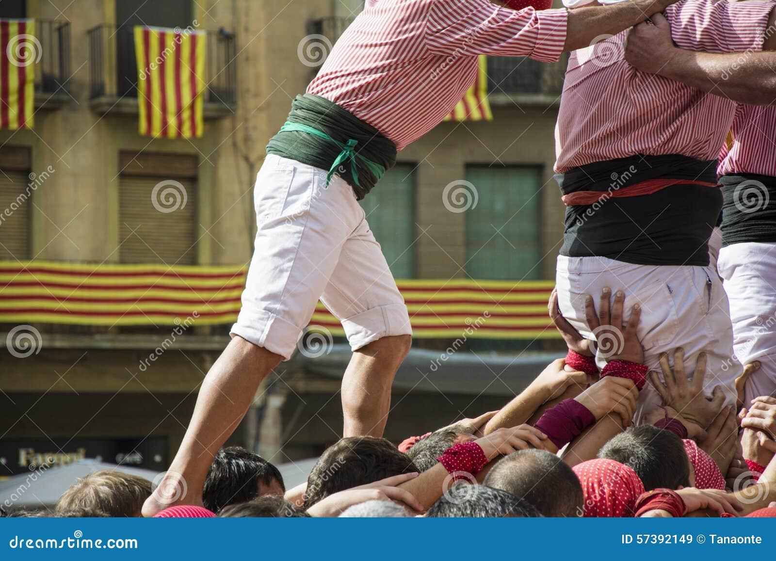Castellsprestaties door castellers