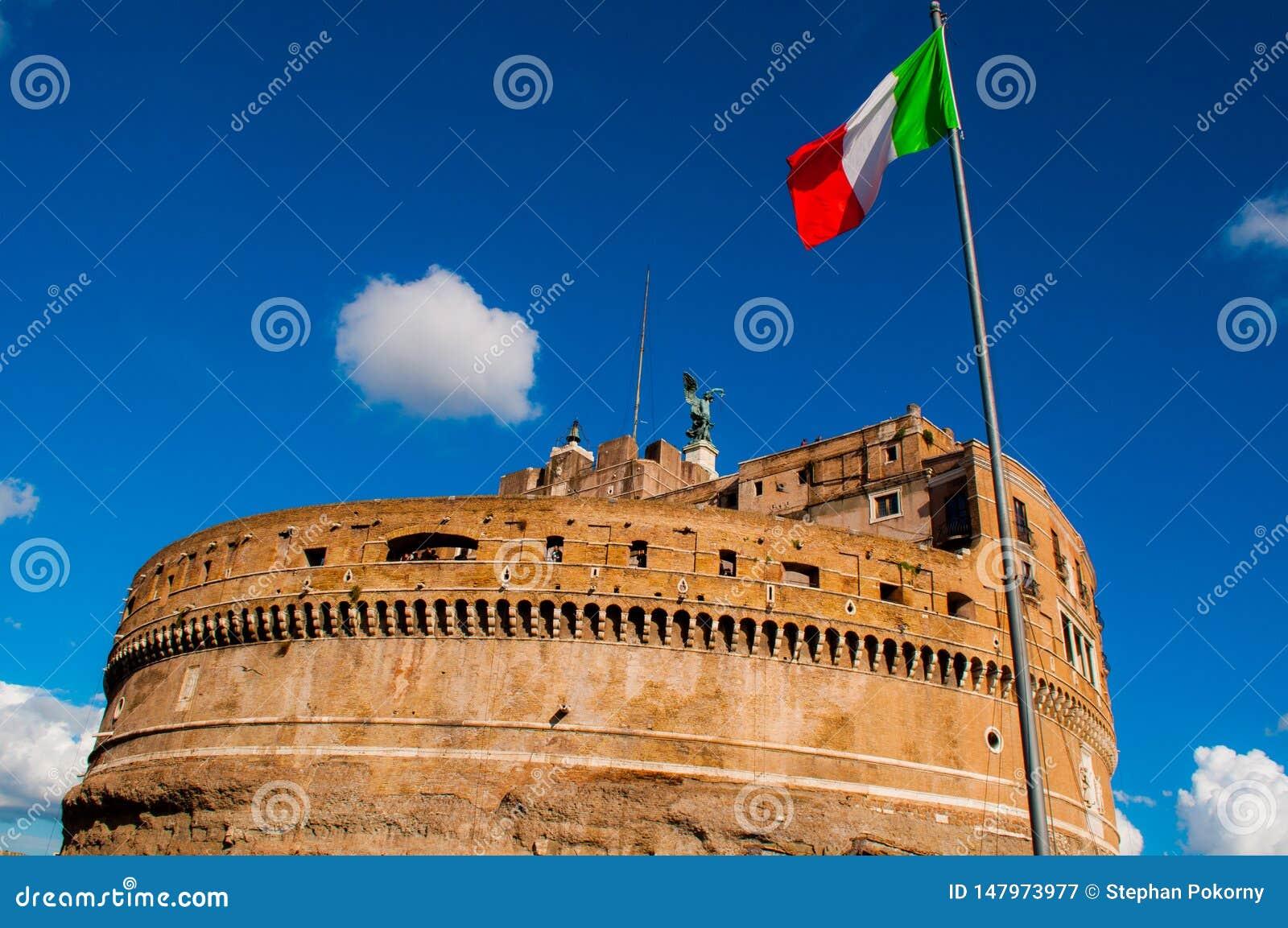 Castelo de Angelo em Roma Itália