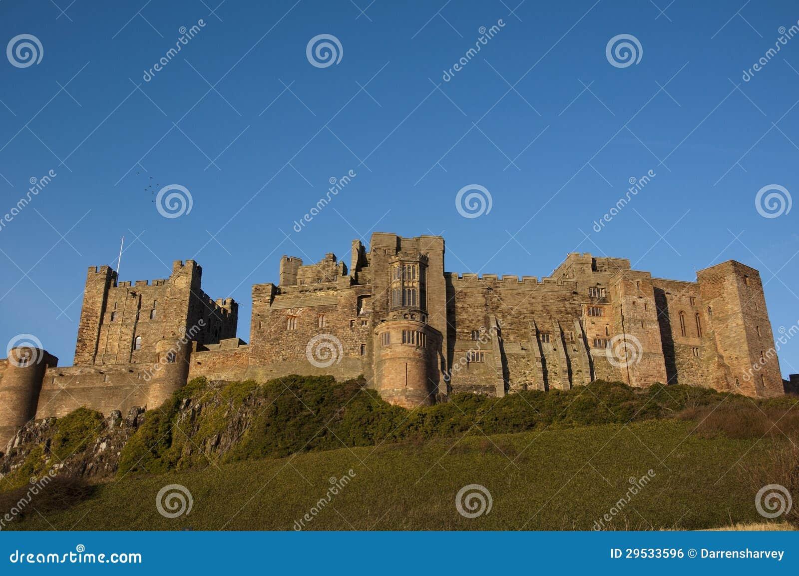 Castelo de Bamburgh em Northumberland