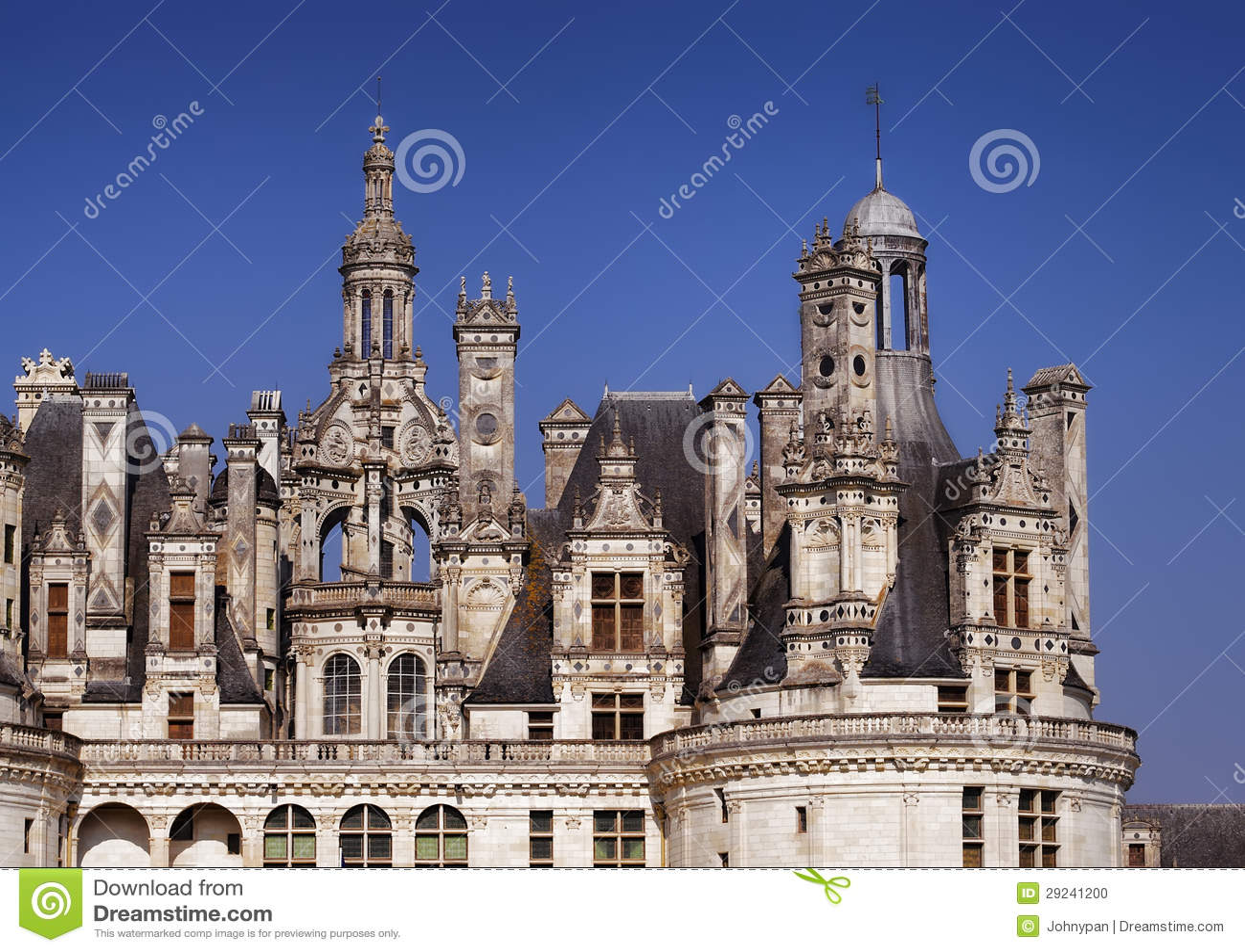 Download Castelo de Chambord foto de stock. Imagem de europa, palácio - 29241200
