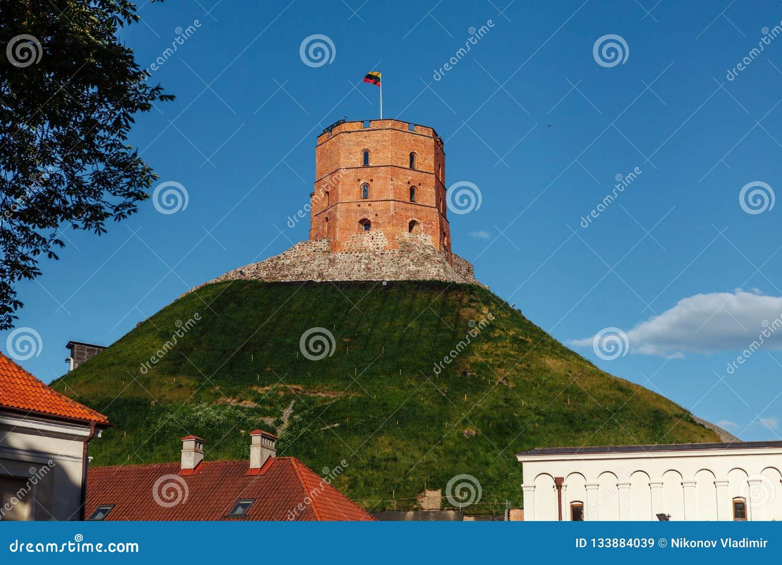 Castelo de Gediminas na capital lituana Vilnus