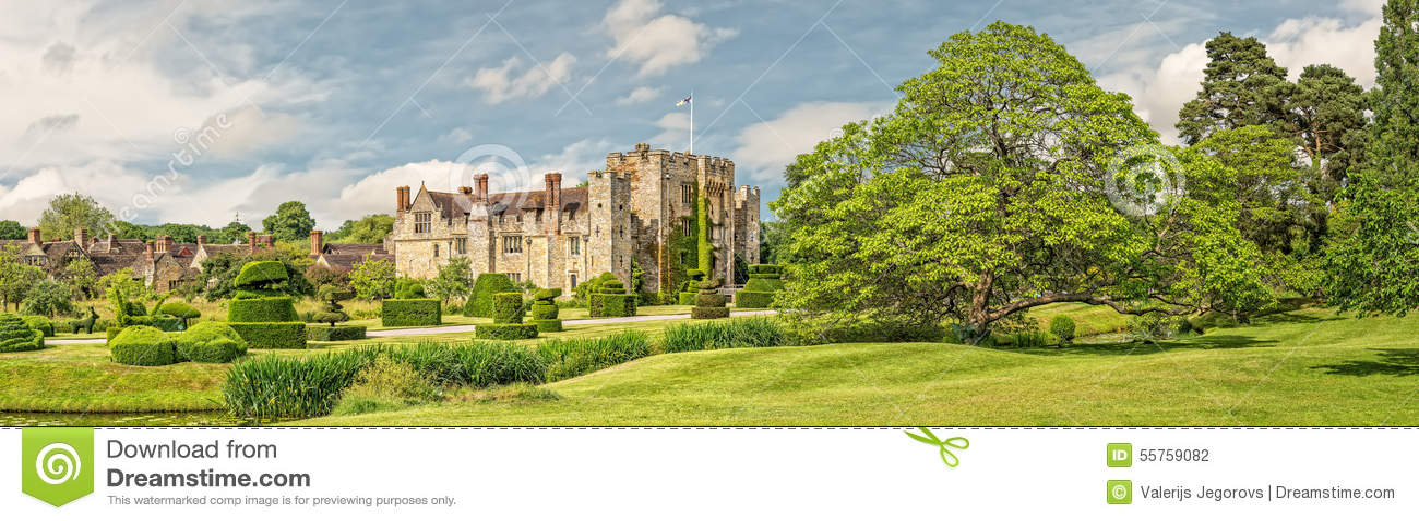 Castelo de Hever em Kent, Inglaterra