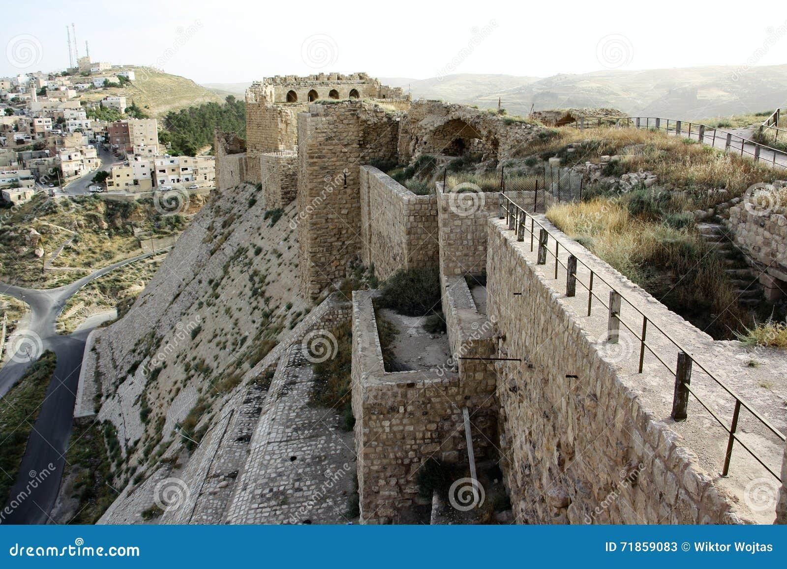 Castelo de Karak em Jordânia