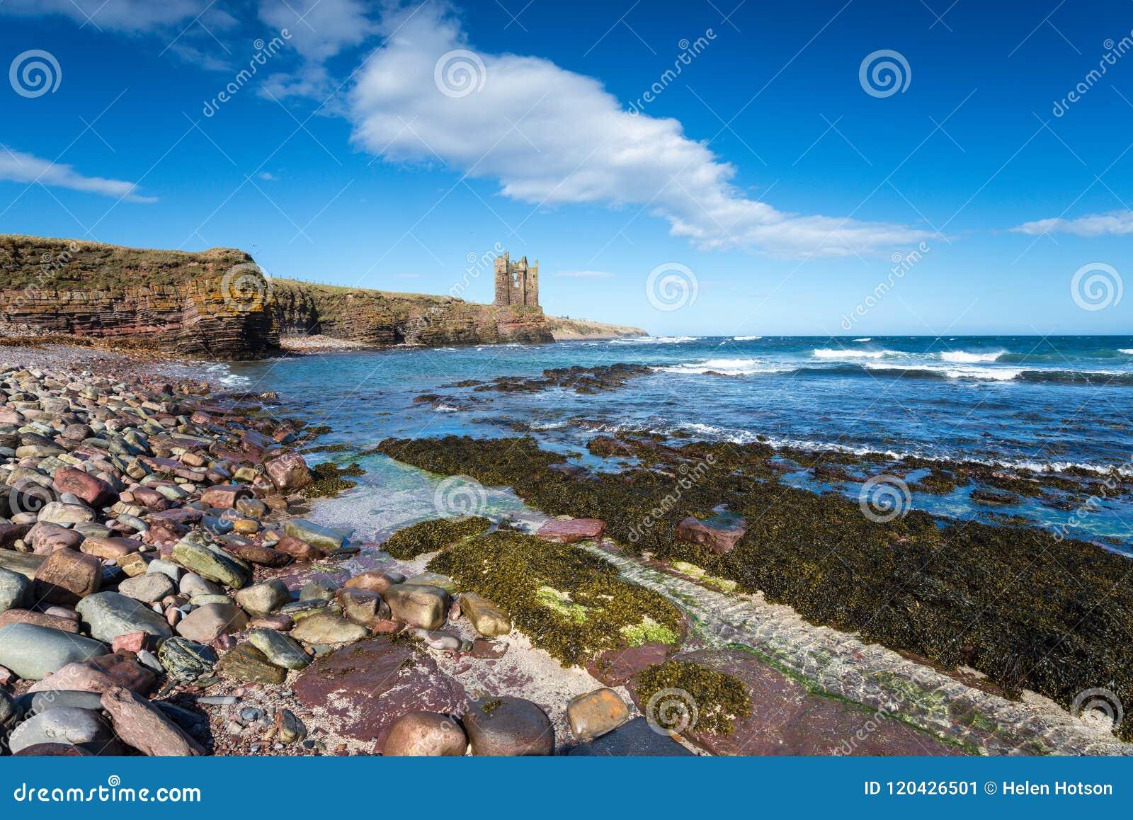 Castelo de Keiss em Escócia