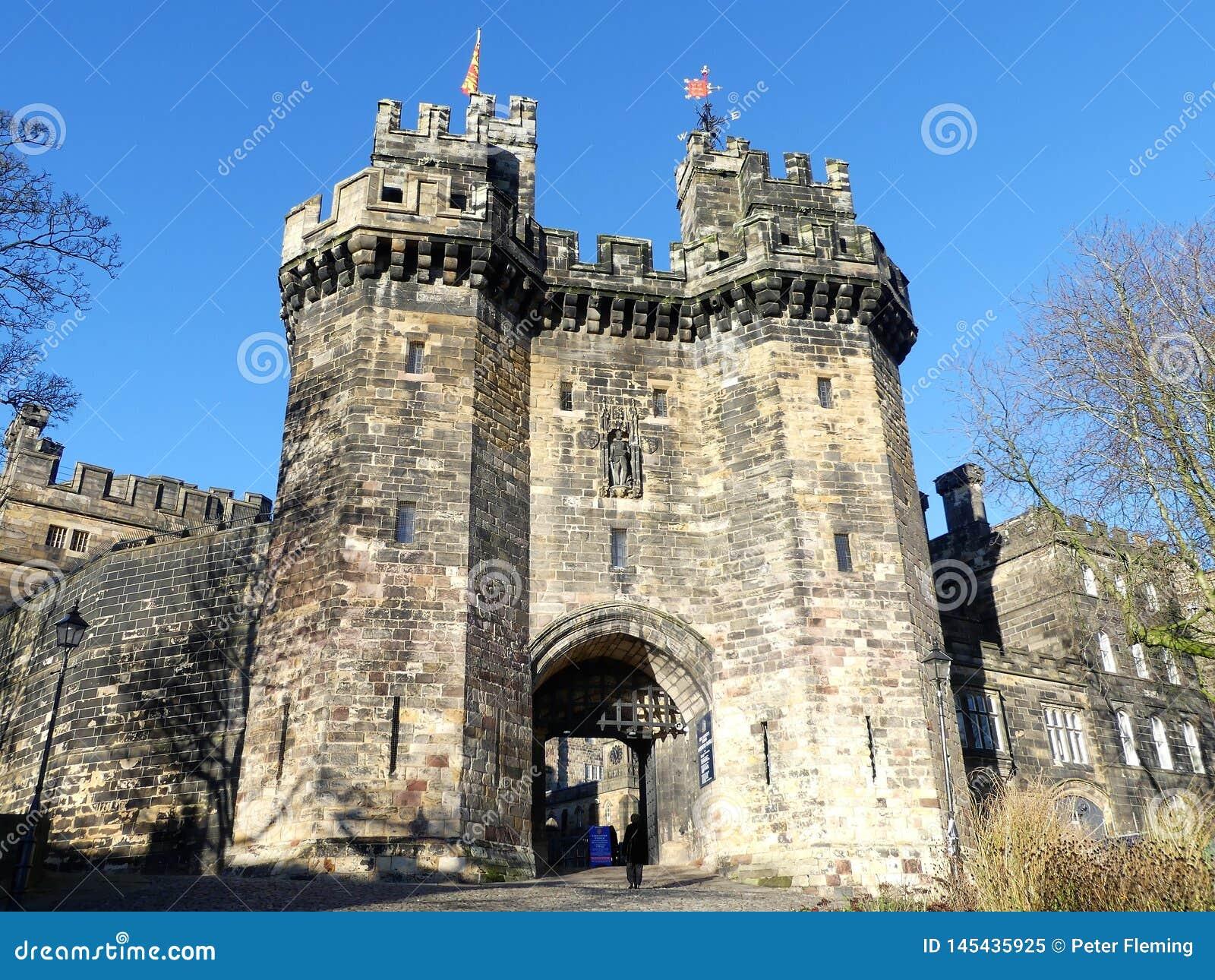 Castelo de Lancaster, um castelo medieval em Lancaster no condado inglês de Lancashire