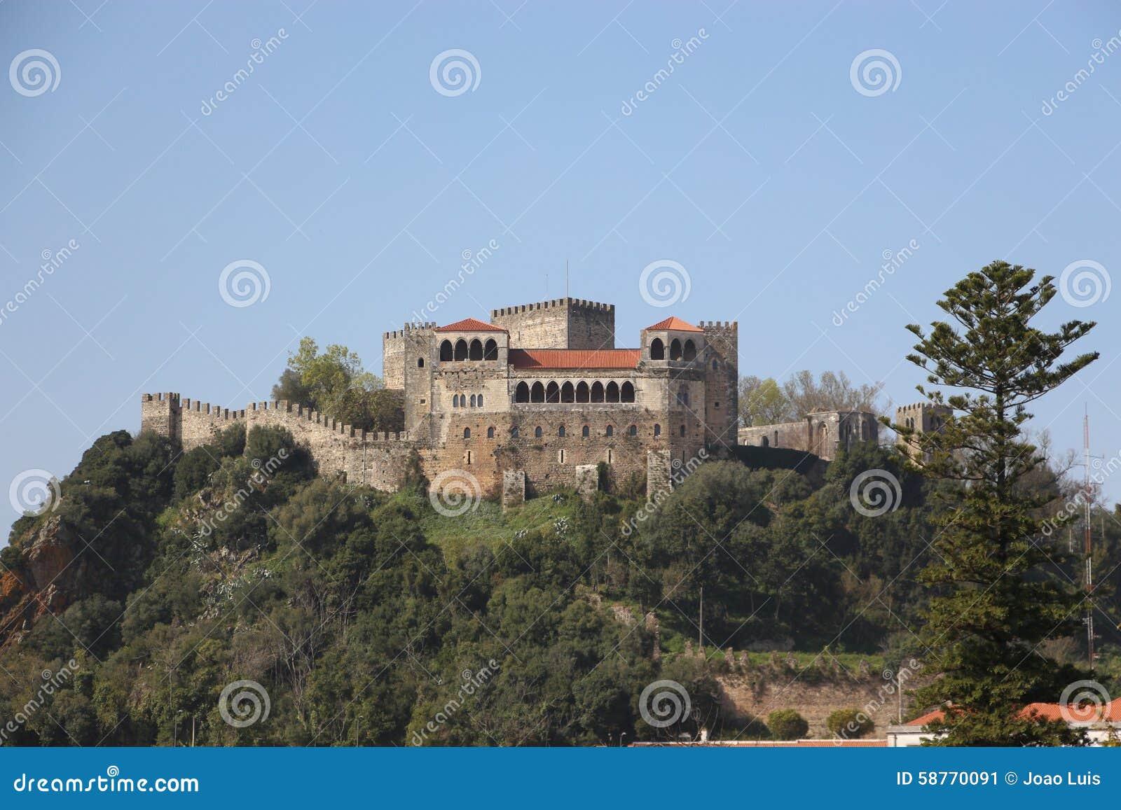 Castelo de Leiria em Portugal