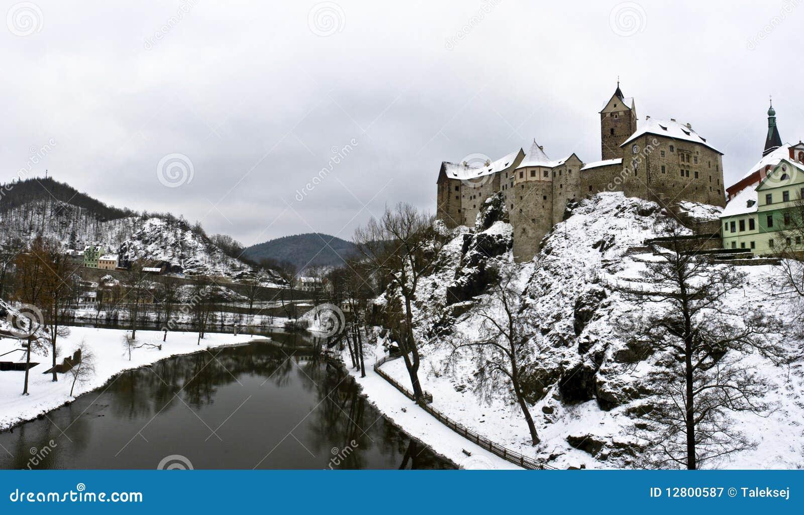 Castelo de Loket em Czechia