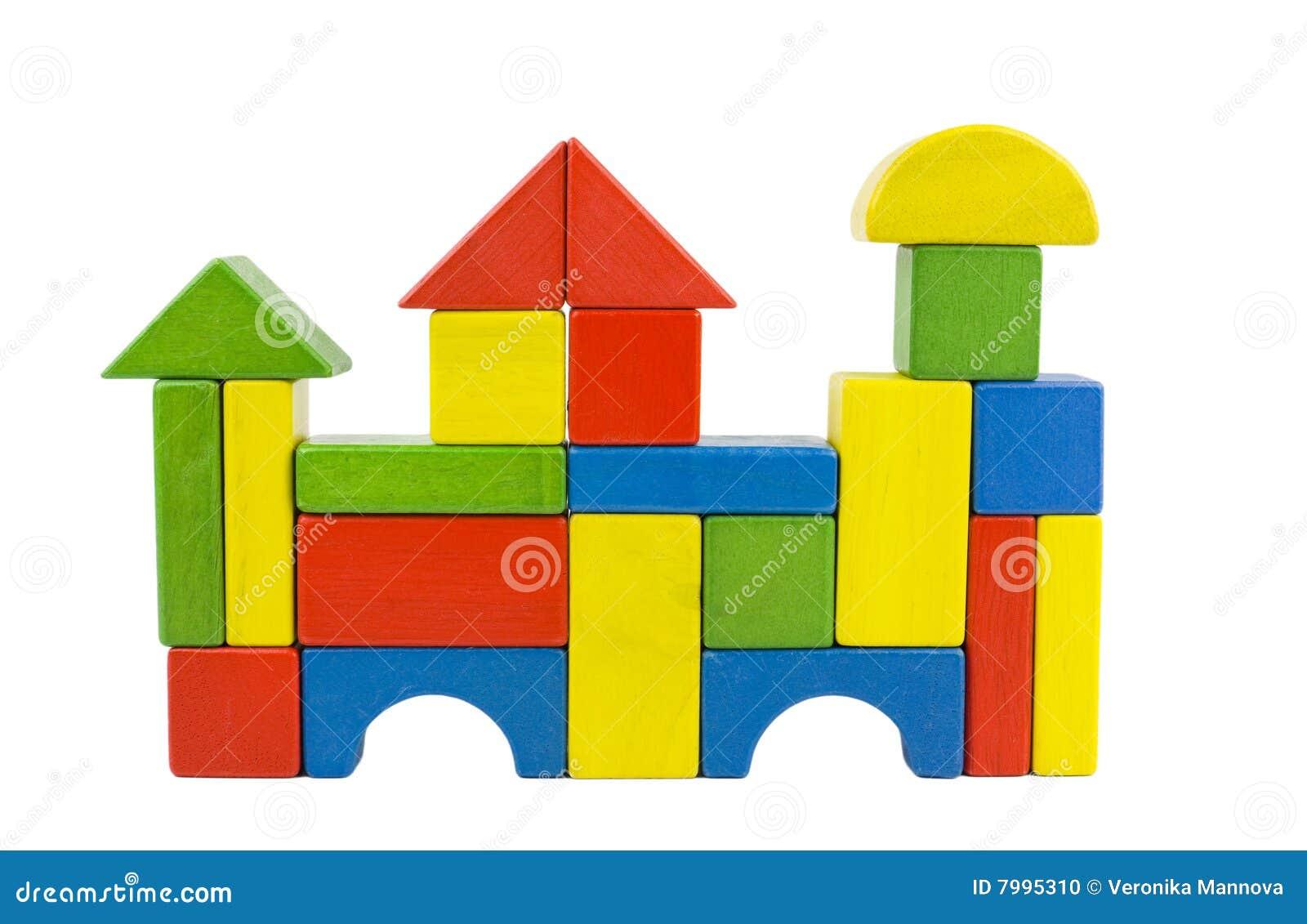 Castelo de madeira dos blocos