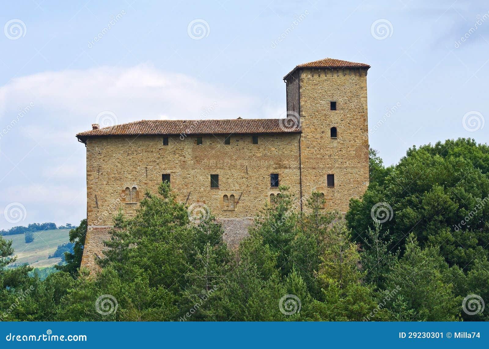 Download Castelo De Pellegrino Parmense. Emilia-Romagna. Itália. Imagem de Stock - Imagem de antigo, facade: 29230301