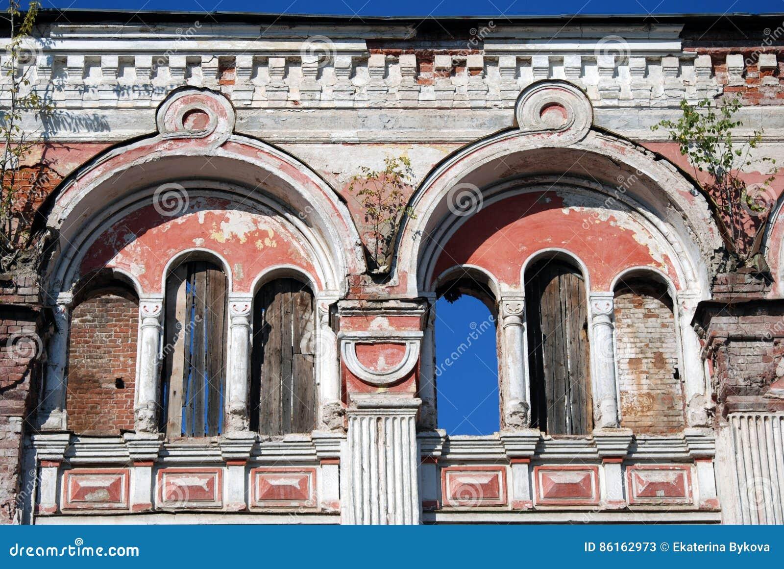 castelo do moorish arquitetura da cidade de rybinsk rússia imagem