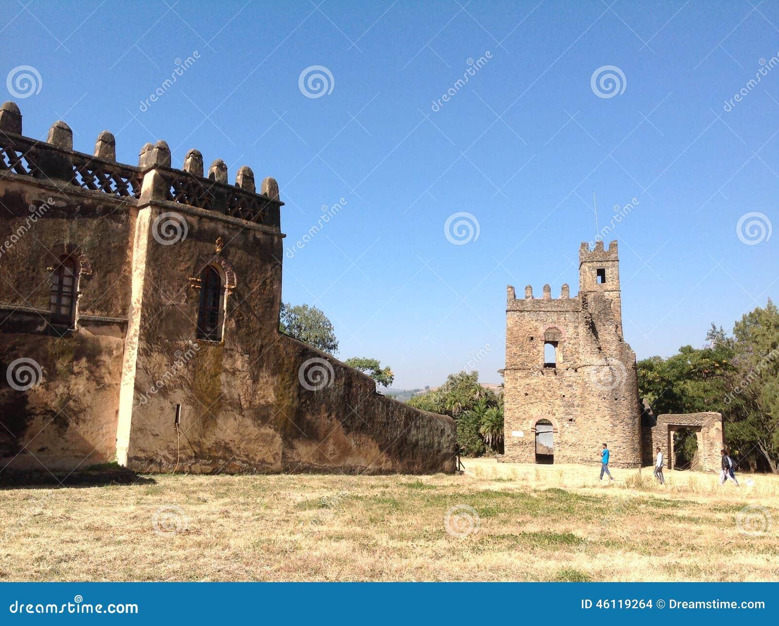 Castelo Gondar Etiópia de Fasil