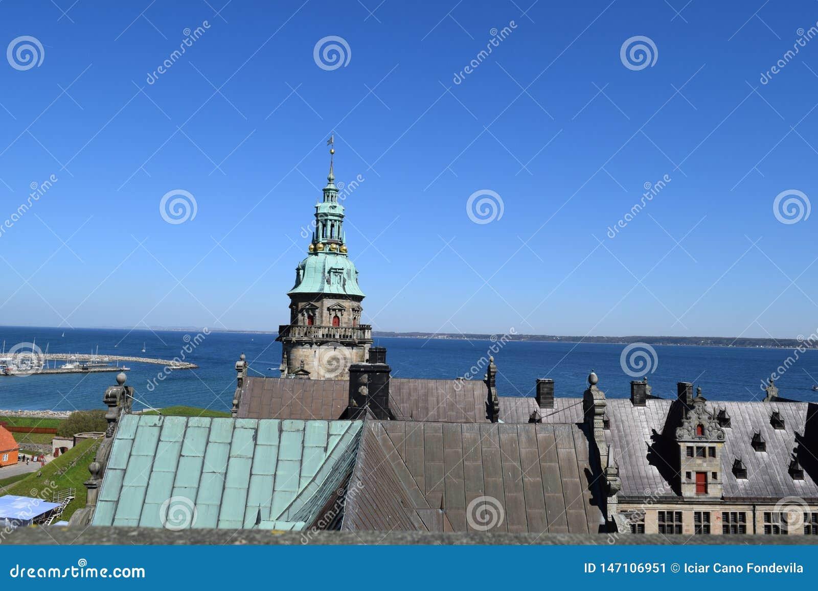 Castelo medieval em Dinamarca