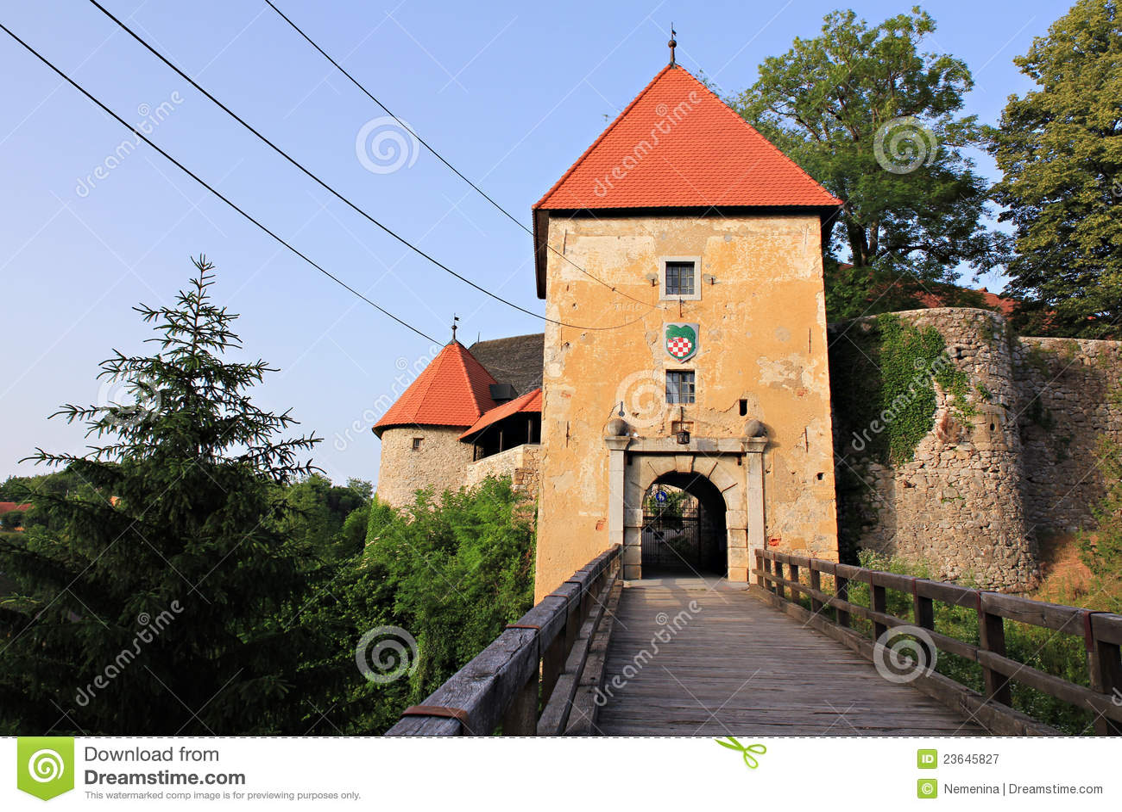Castelo romântico velho em croatia