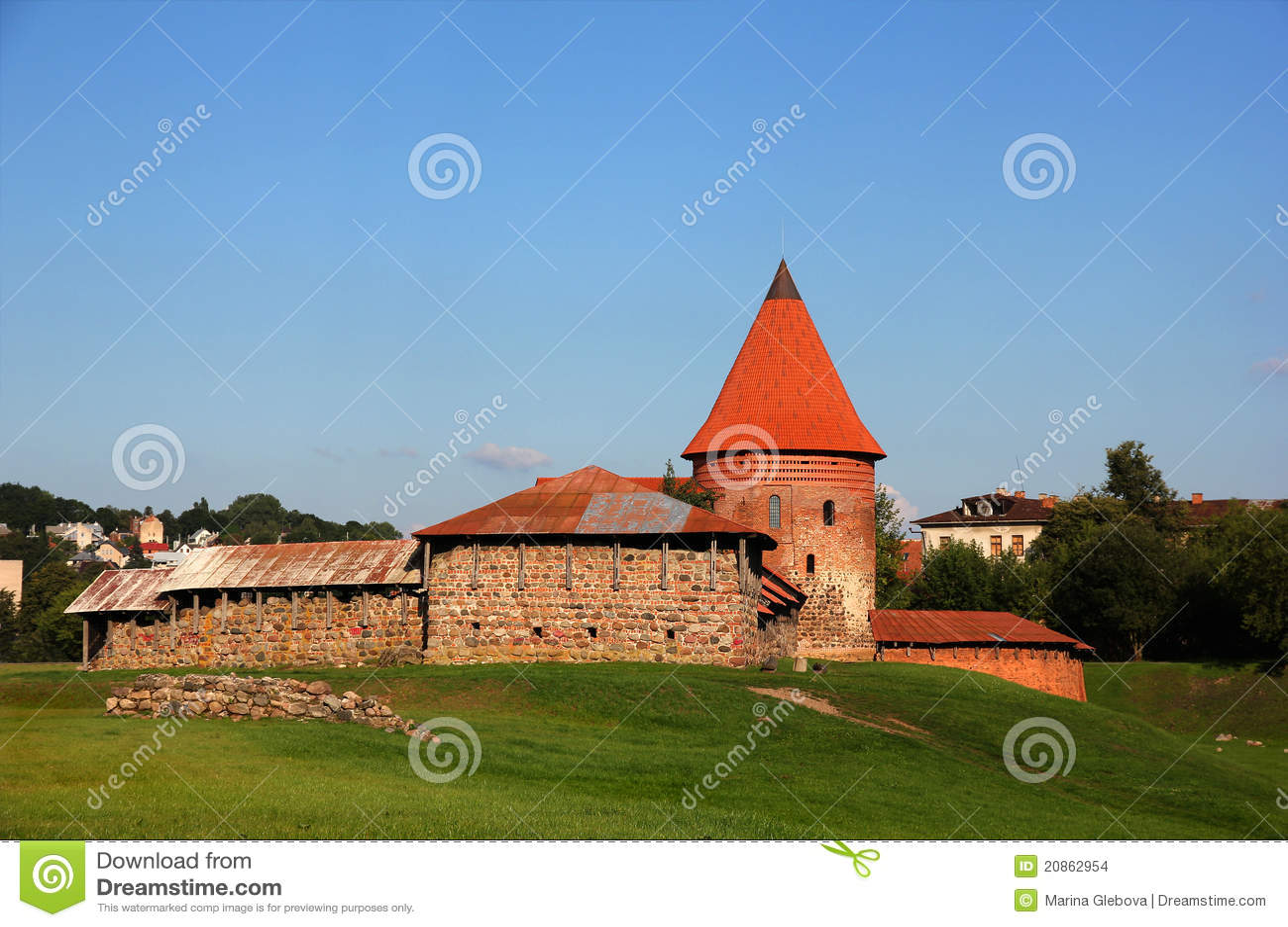 Castelo velho em Kaunas, Lithuania.