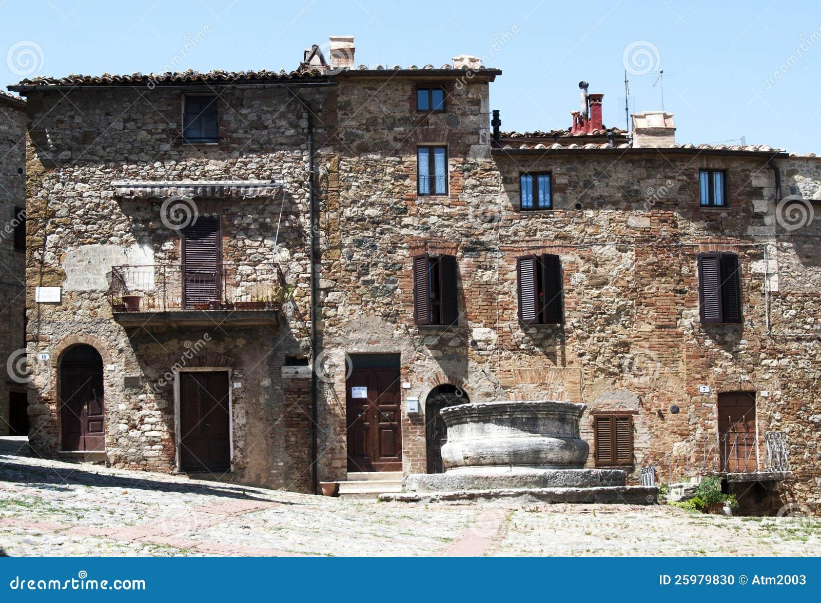 Castiglione D Orcia Square Tuscany Italy Stock Photo Image 25979830