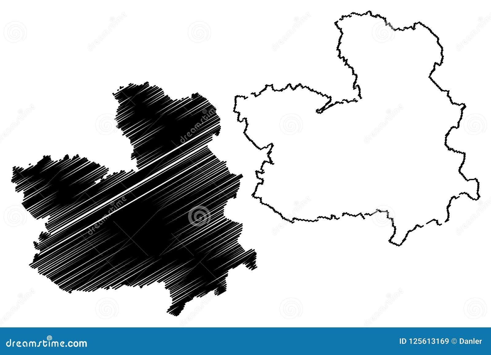 La Mancha Spain Map.Castilla La Mancha Map Vector Stock Vector Illustration Of Line