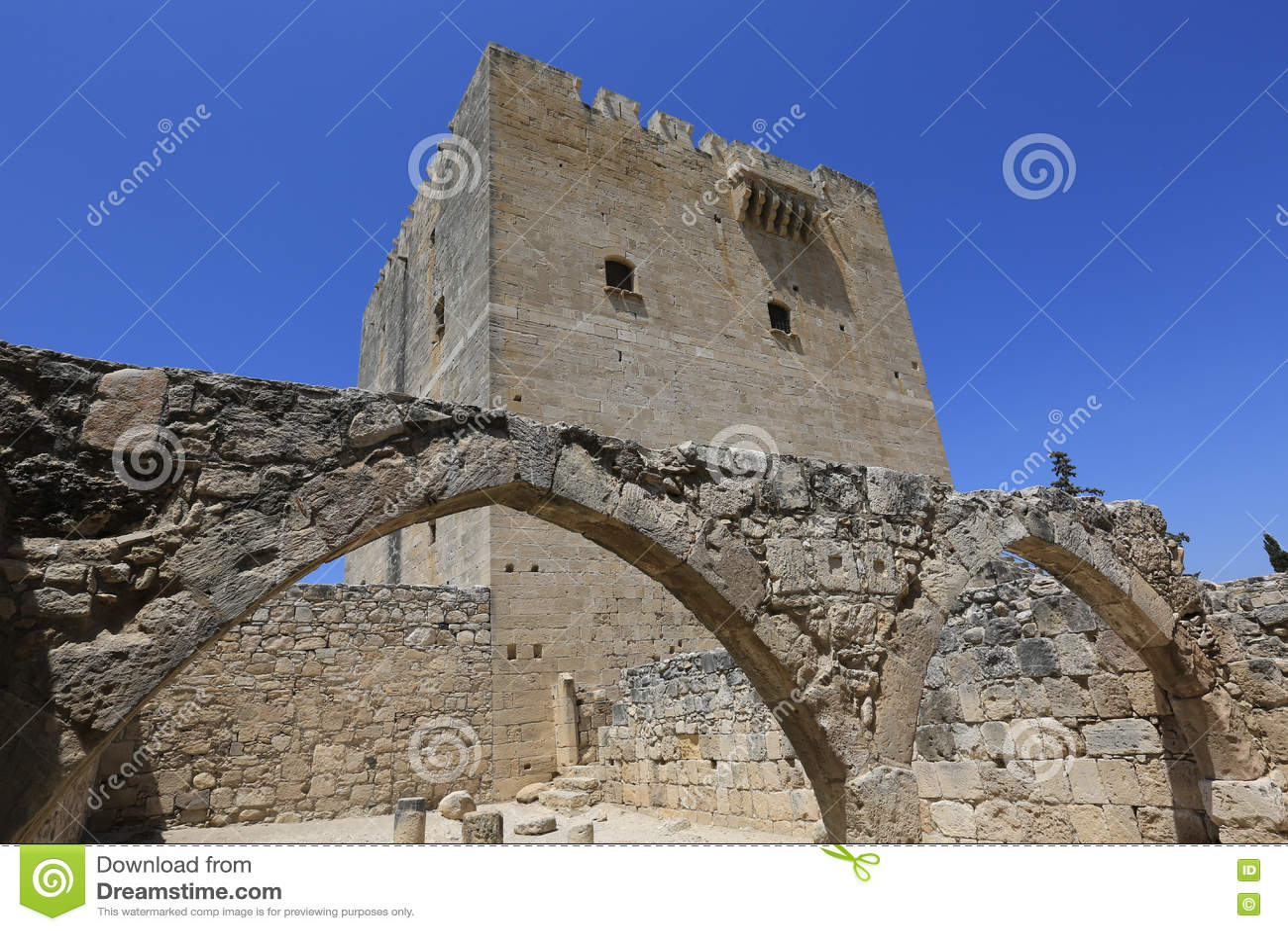 Castillo antiguo de Kolossi en Chipre