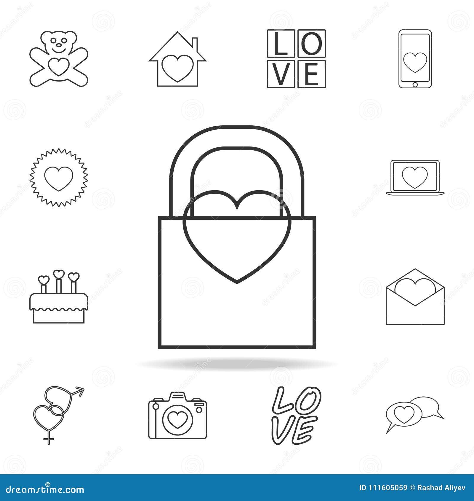 Castillo con un icono del corazón Sistema de iconos del elemento del amor Diseño gráfico de la calidad superior Muestras, icono d