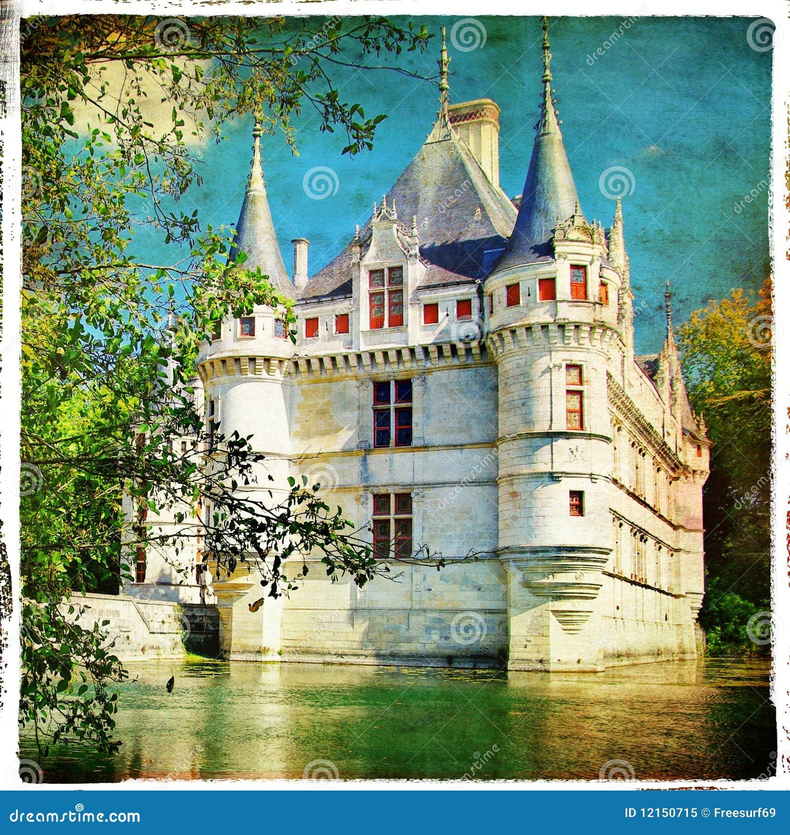 Castillo de azay le rideau foto de archivo libre de regal as imagen 12150715 - Castillo de azay le rideau ...