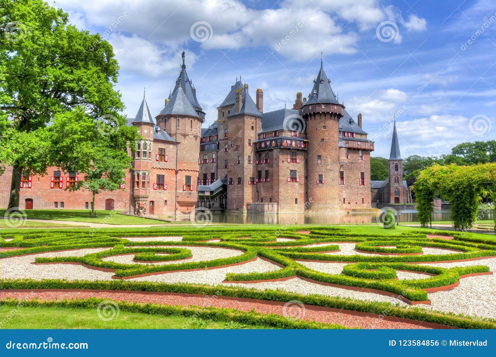 Castillo de De Haar cerca de Utrecht, Países Bajos
