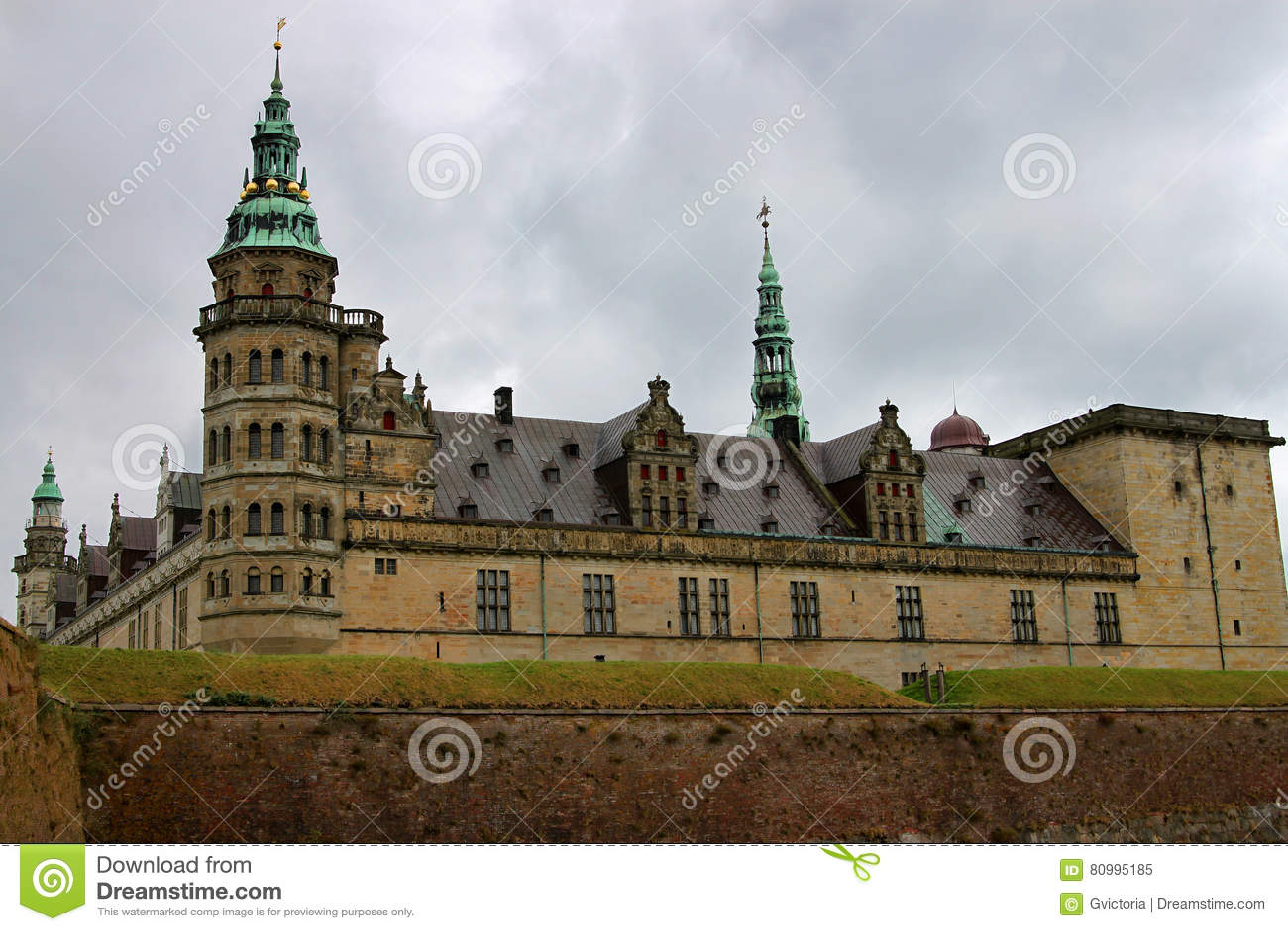 Castillo de Kronborg o de Elsinore en Copenhague, Dinamarca