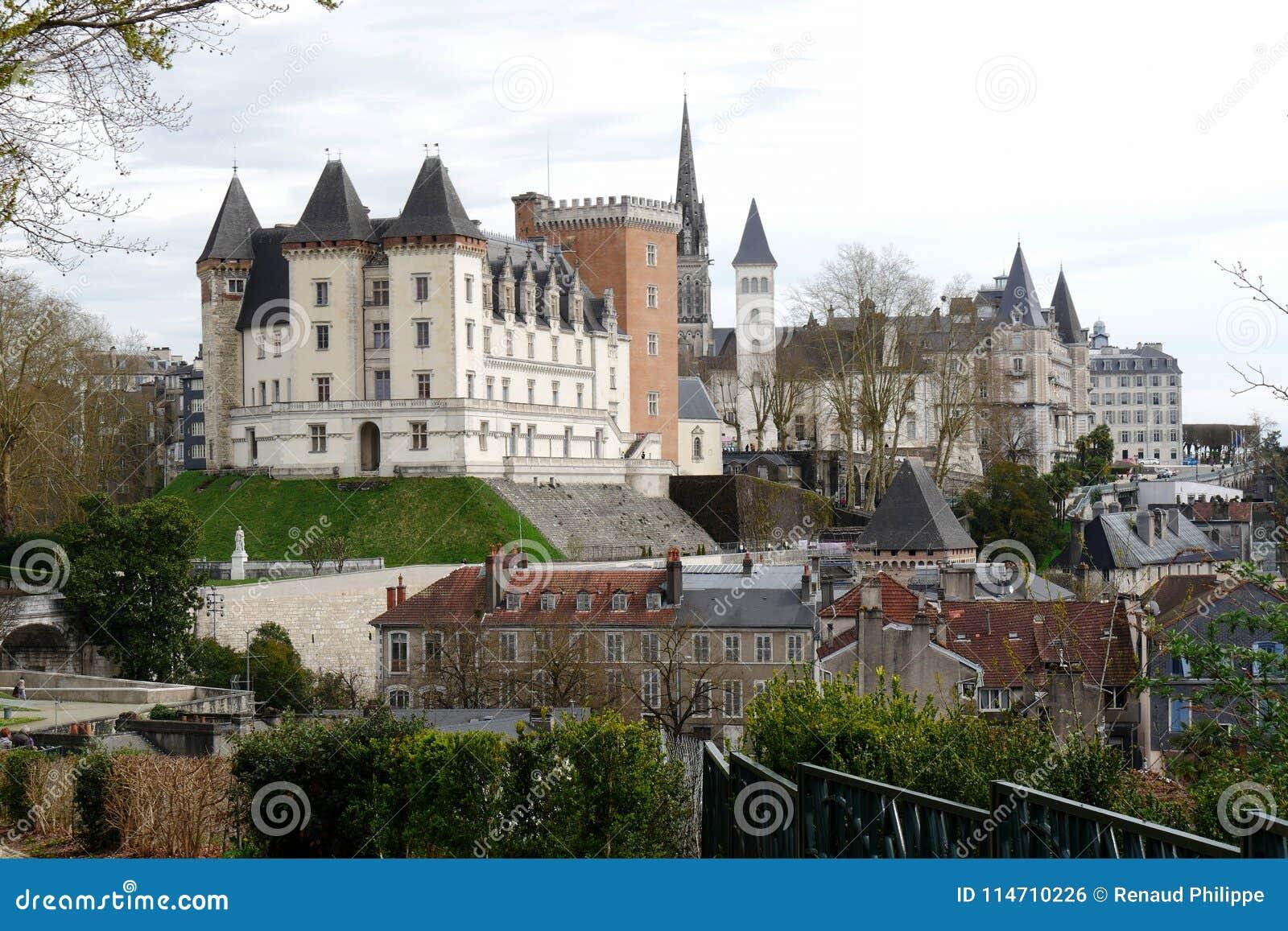 Castillo de la ciudad de Pau en Francia