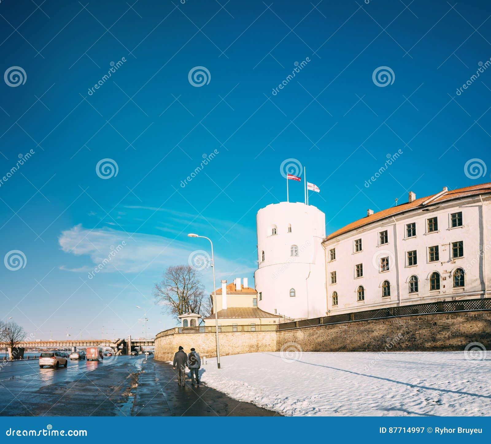 Castillo de Letonia Riga, señal famosa, presidente oficial Residenc