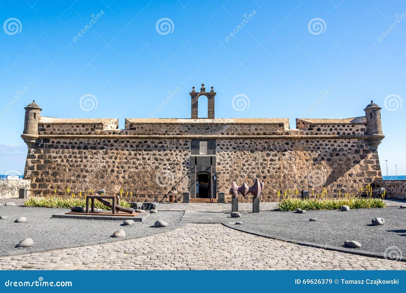 Castillo de San Jose, slott av San Jose, Arrecife, Lanzarote, Spanien