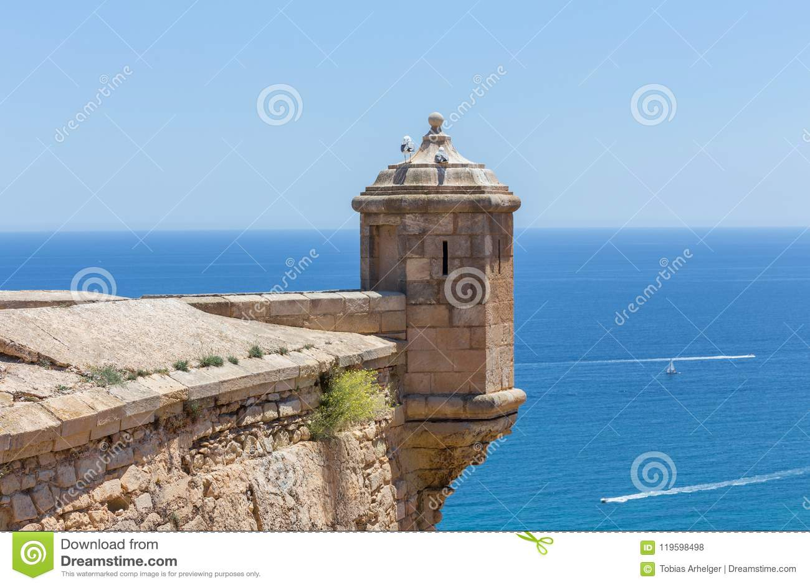 Castillo DE Santa Barbara Alicante Spanje