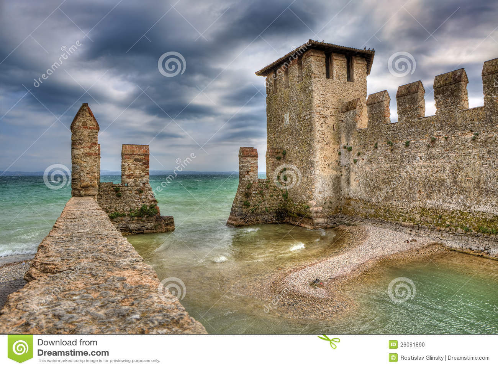 Castillo de Sirmione, Italia.