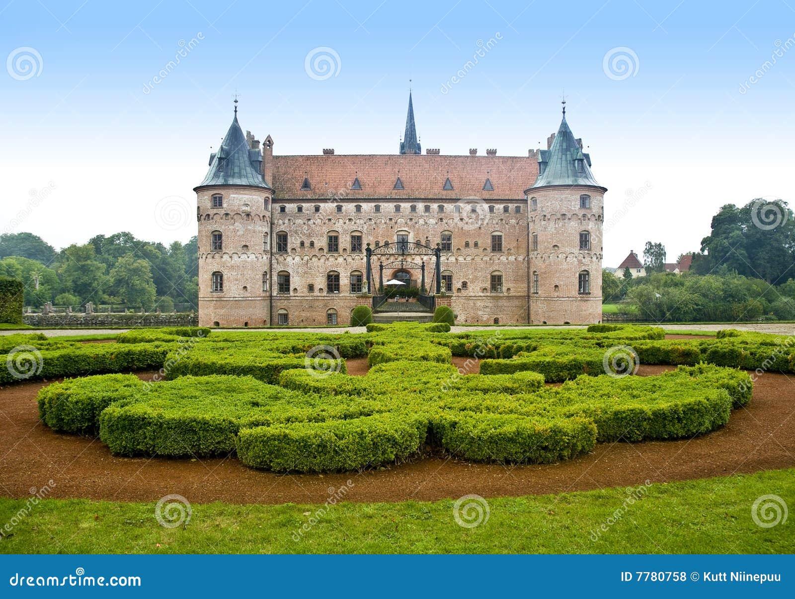 Castillo Dinamarca escénica de Egeskov