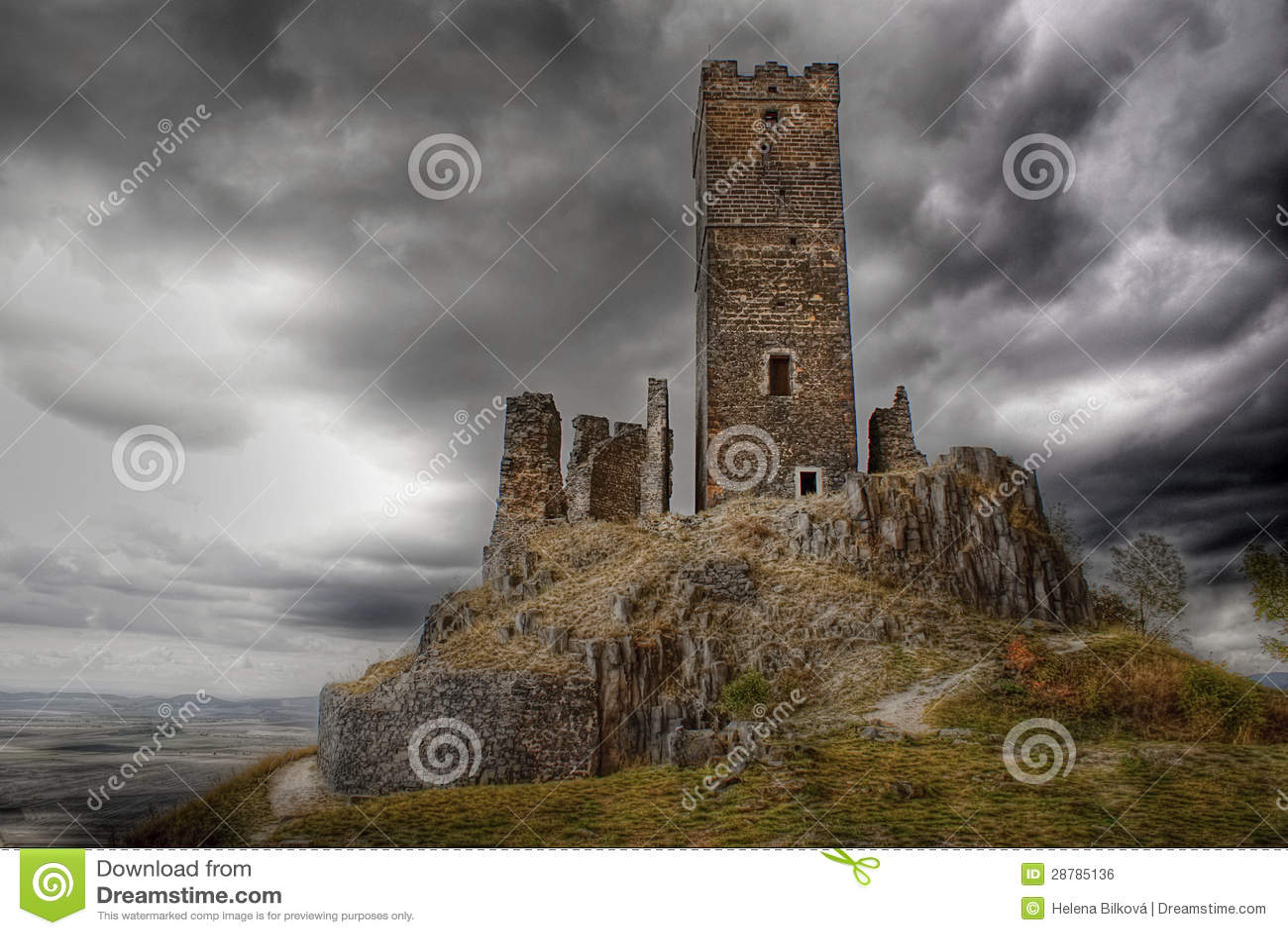 Castillo gótico Hazmburk, señal