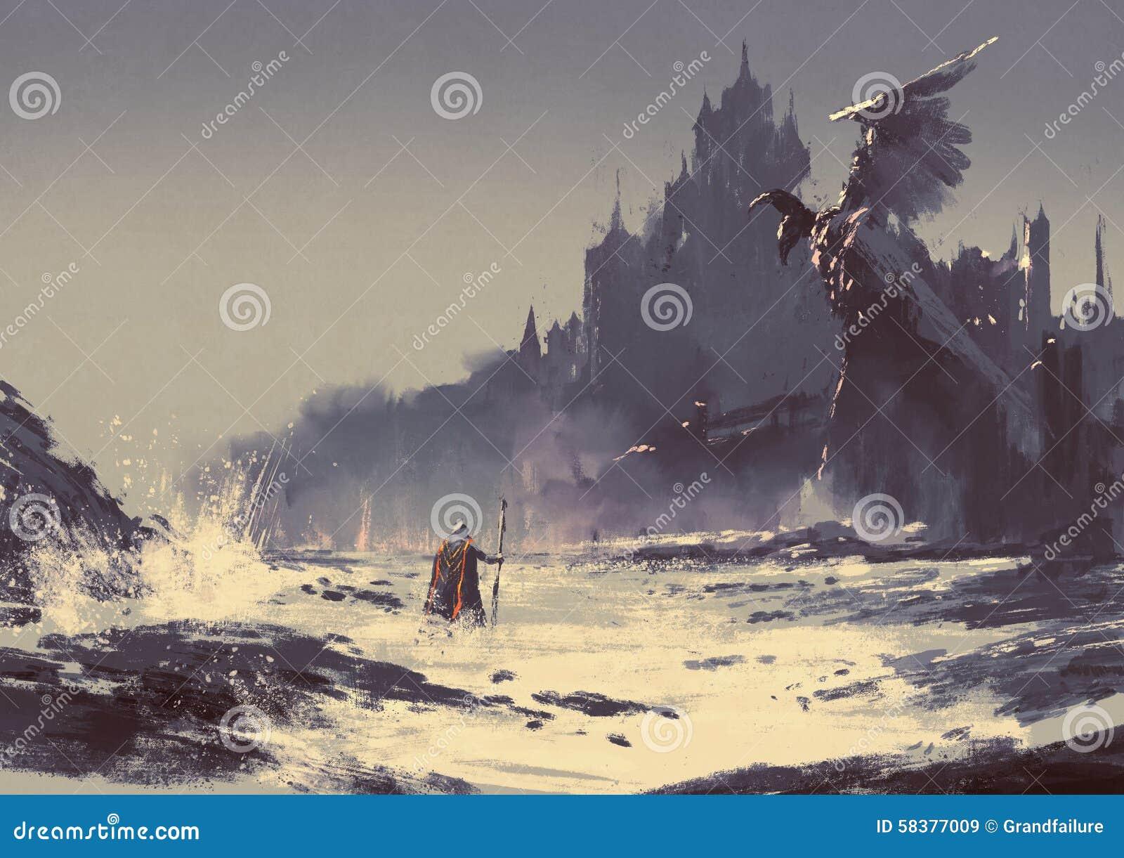 Castillo oscuro de la fantasía