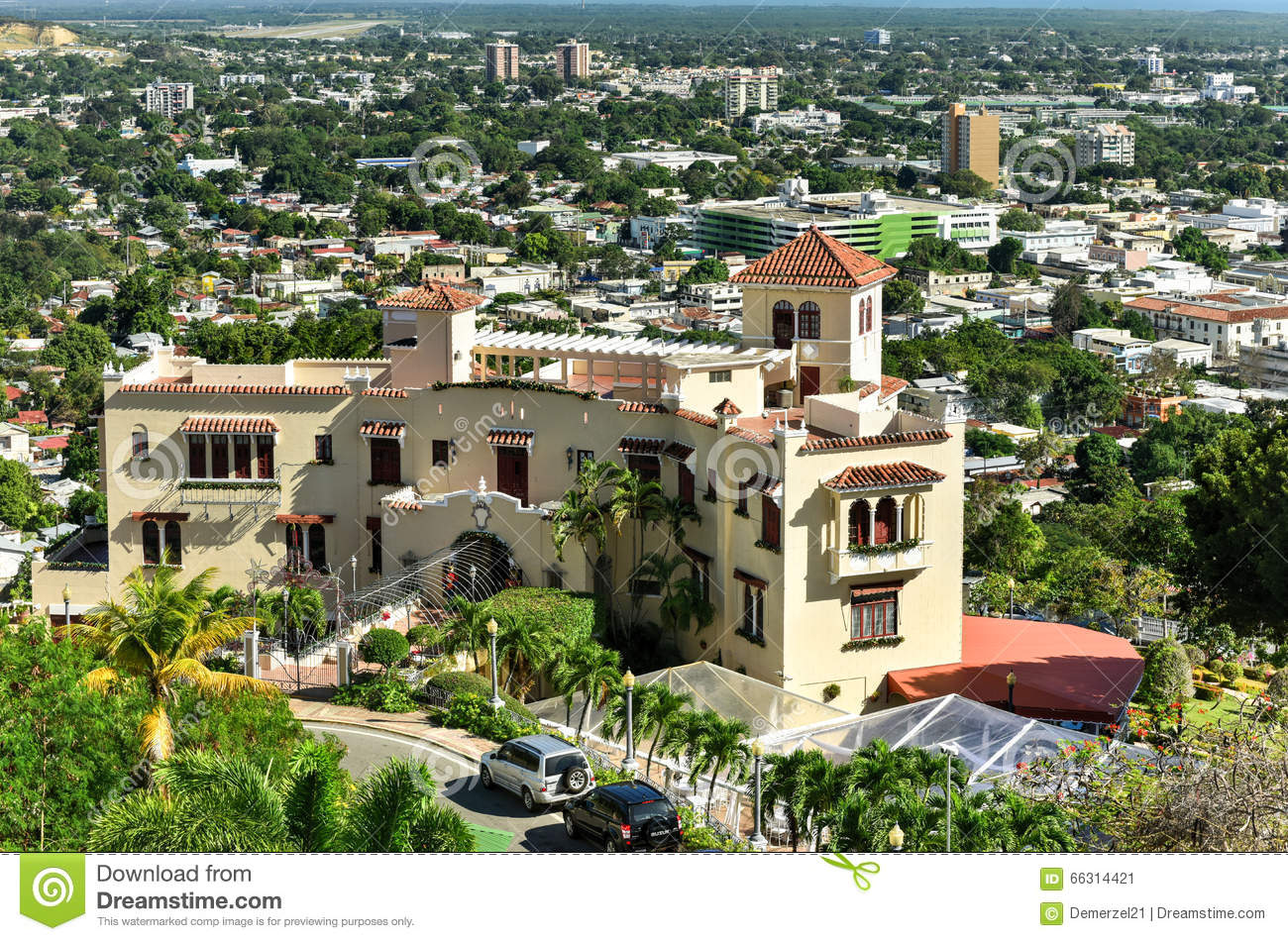 castillo serralles mansion ponce puerto rico castle located city overlooking downtown area 66314421