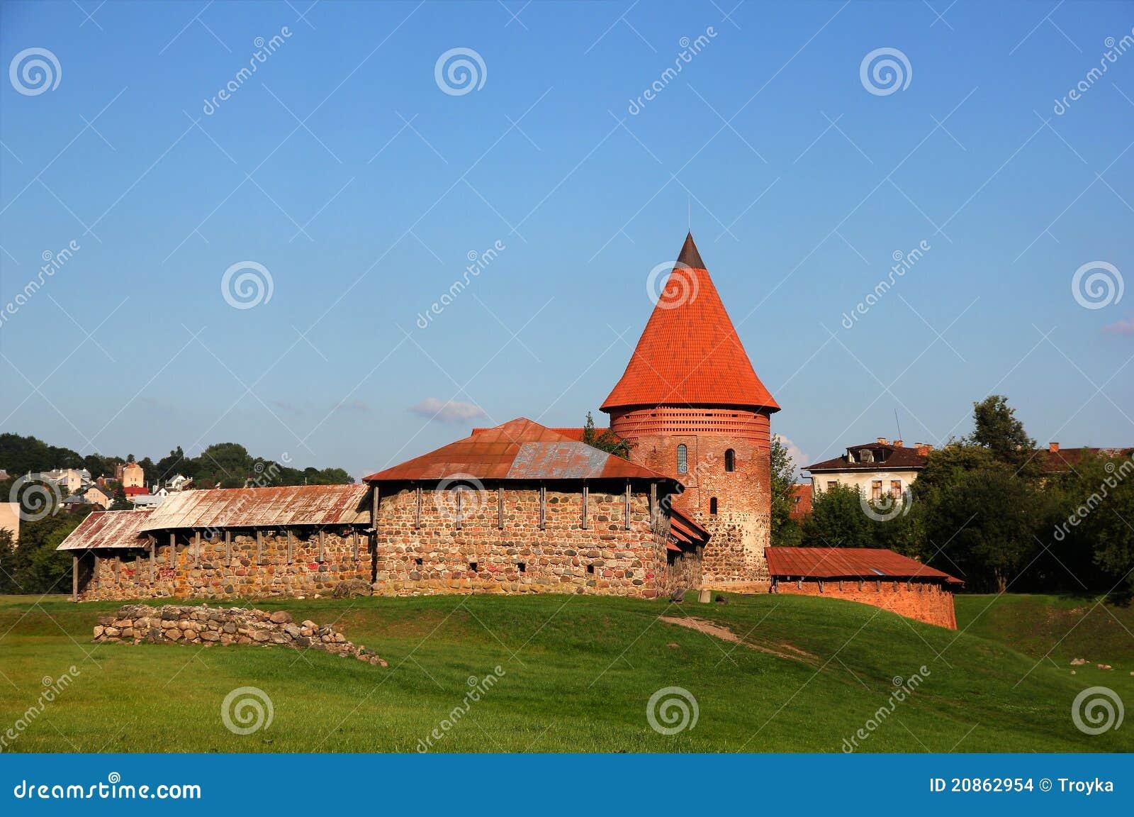 Castillo viejo en Kaunas, Lituania.