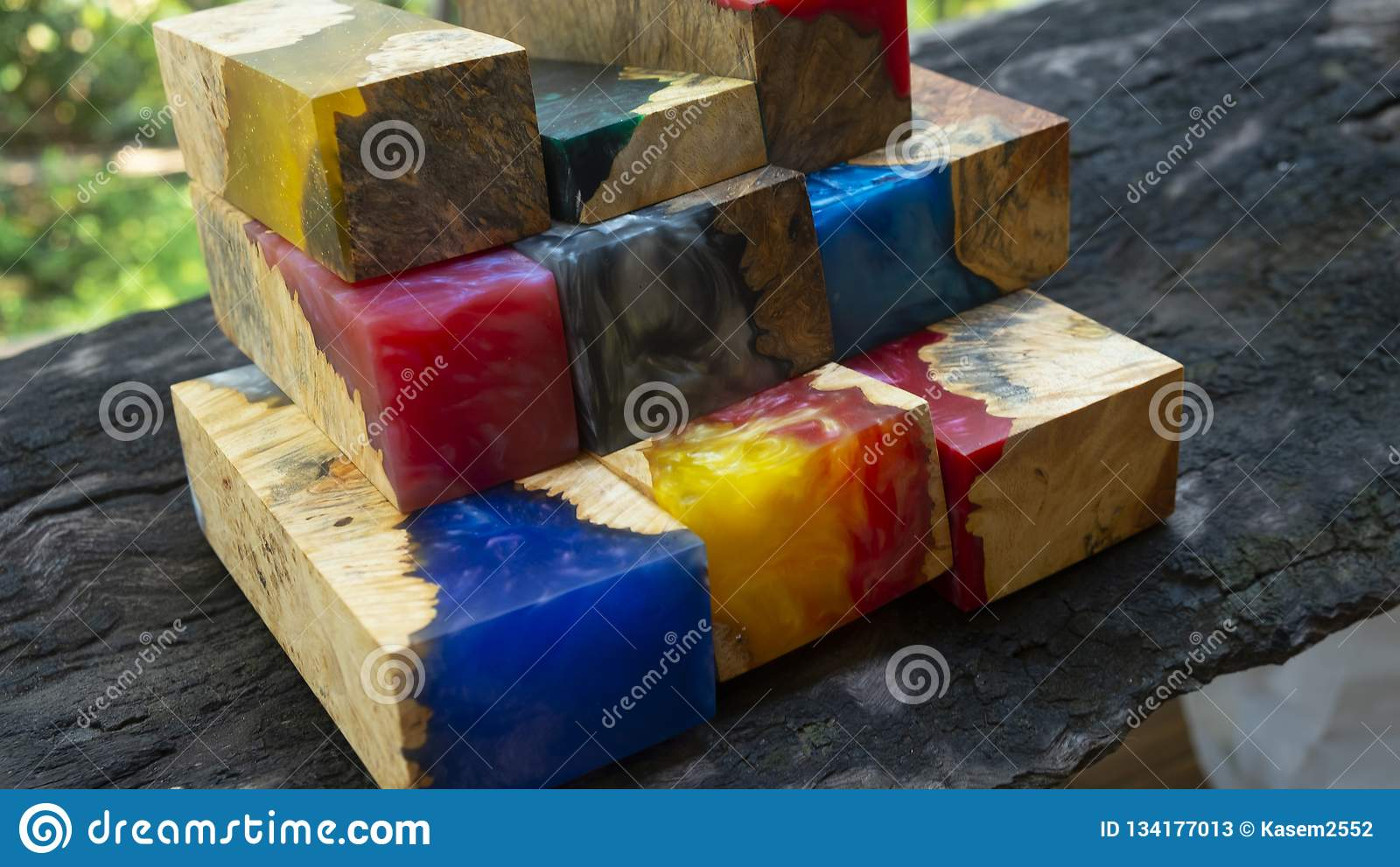 Epoxy resin wood stock image  Image of lava, gold, color - 134177013