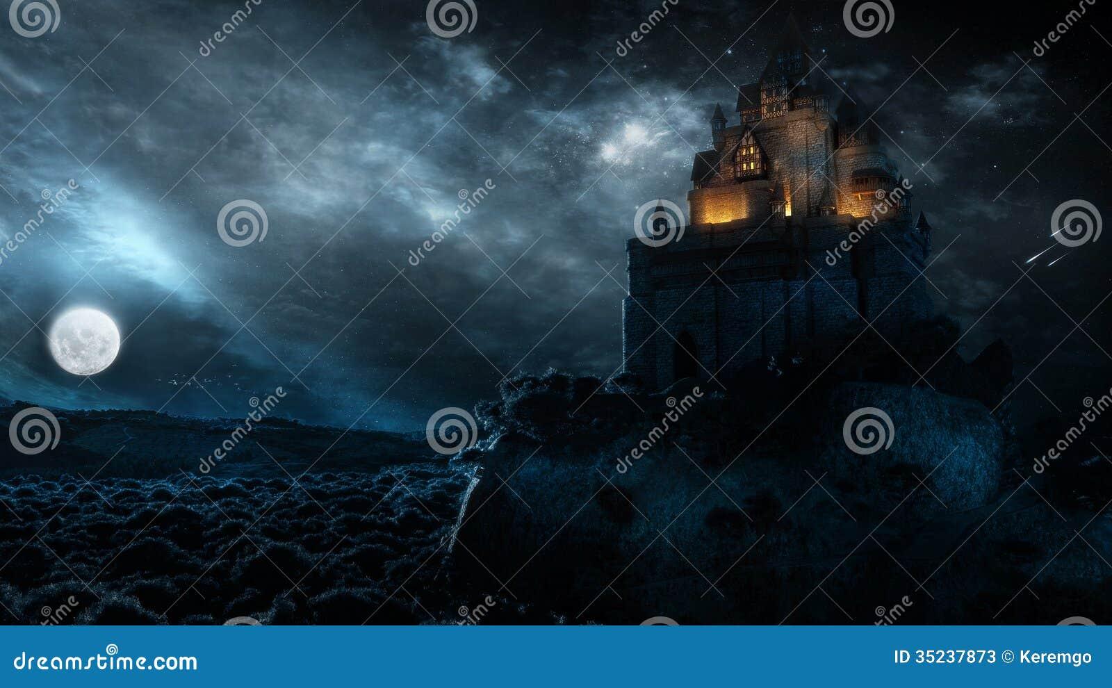 Castle στη νύχτα