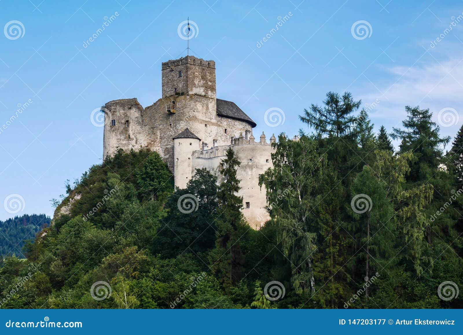 Castle στο λόφο επάνω από τη λίμνη