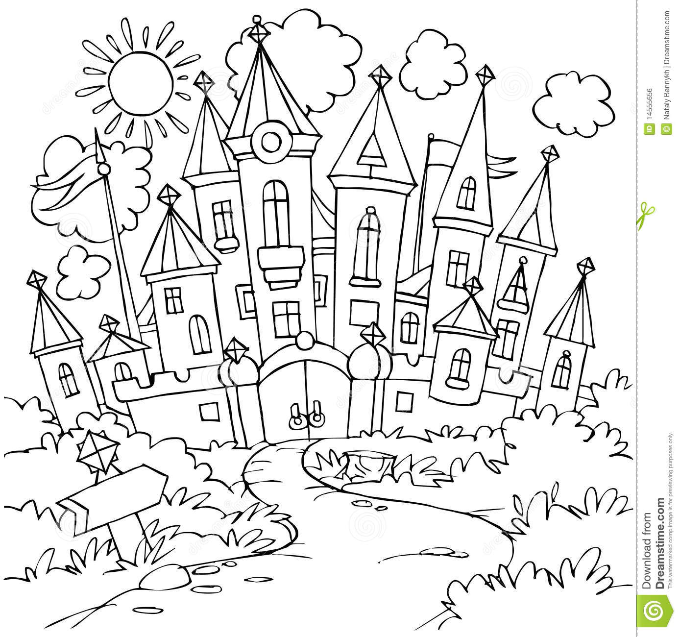 coloring pages castle - castle stock illustration illustration of funny tower