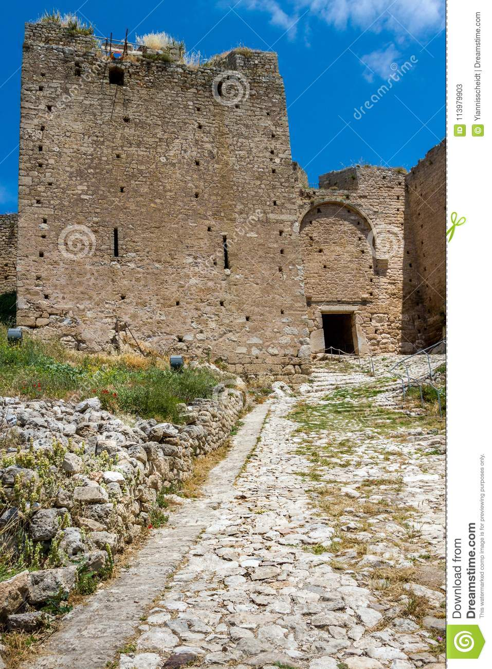 Acrocorinth, One Of The Most Famous Ancient Castles In