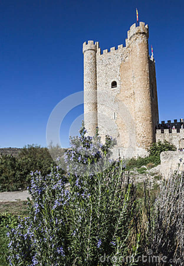 Castle of Almohad origin of the century XII, take in Alcala of t