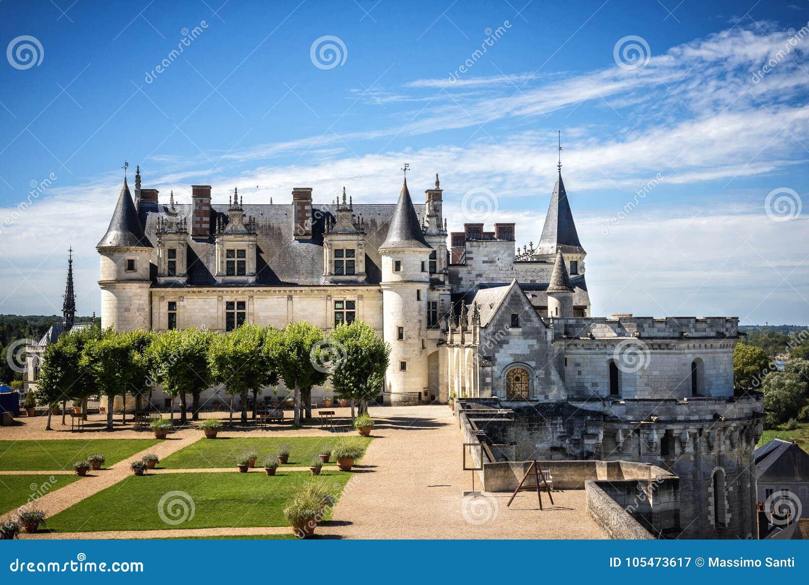 Chateau De Amboise Medieval Castle Leonardo Da Vinci Tomb Loire Valley France Europe Unesco Site Stock Image Image Of Luxury Historical 105473617