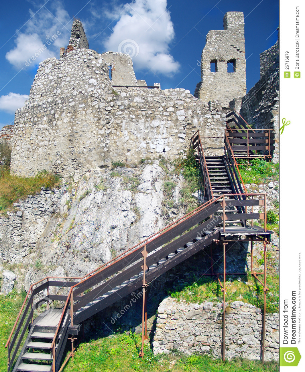 The Castle of Beckov - Interior with stairs
