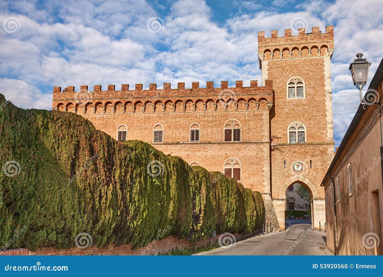 Castle of Bolgheri in Tuscany, Italy