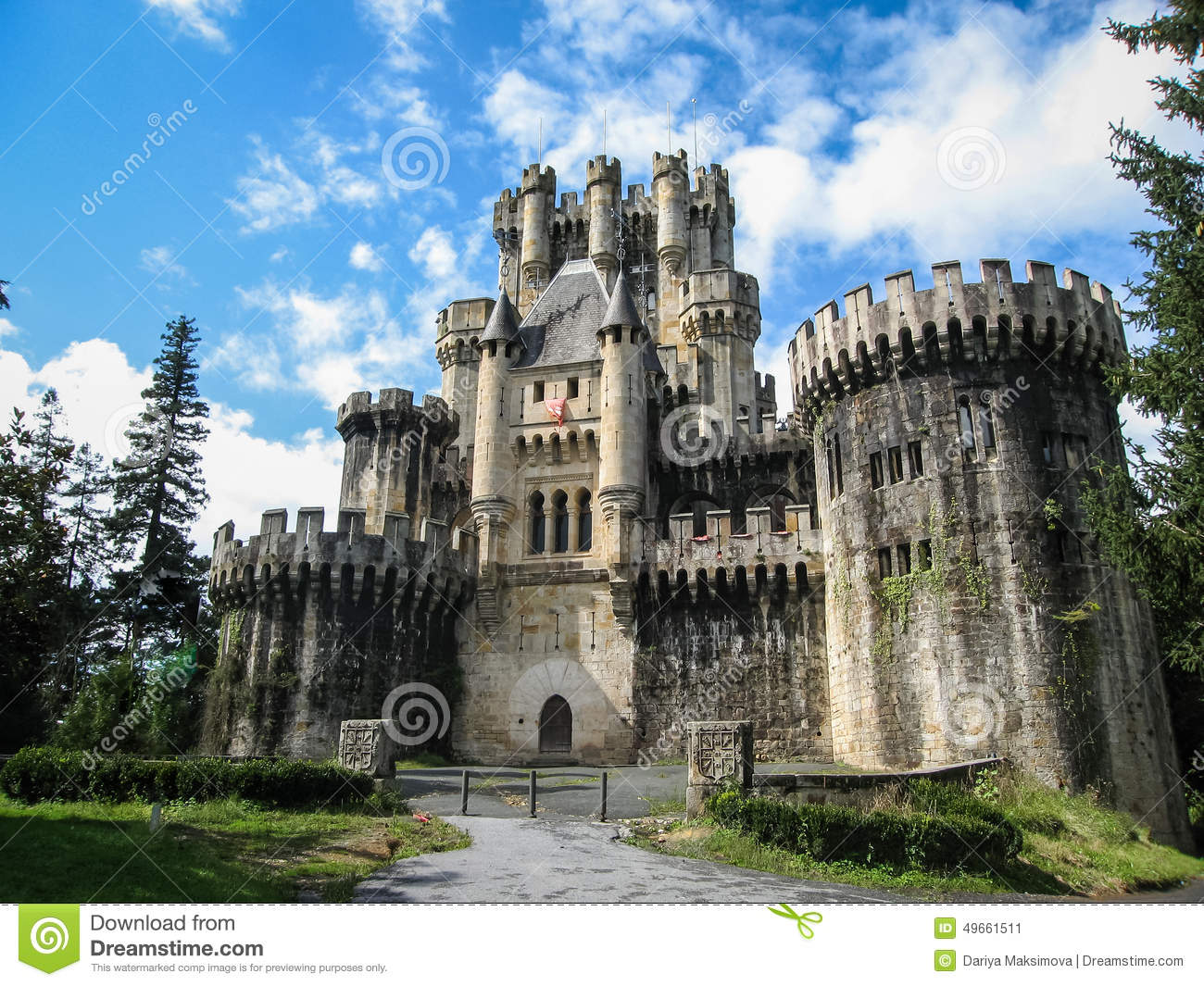 Castle Butron, Basque Country, Spain Stock Image