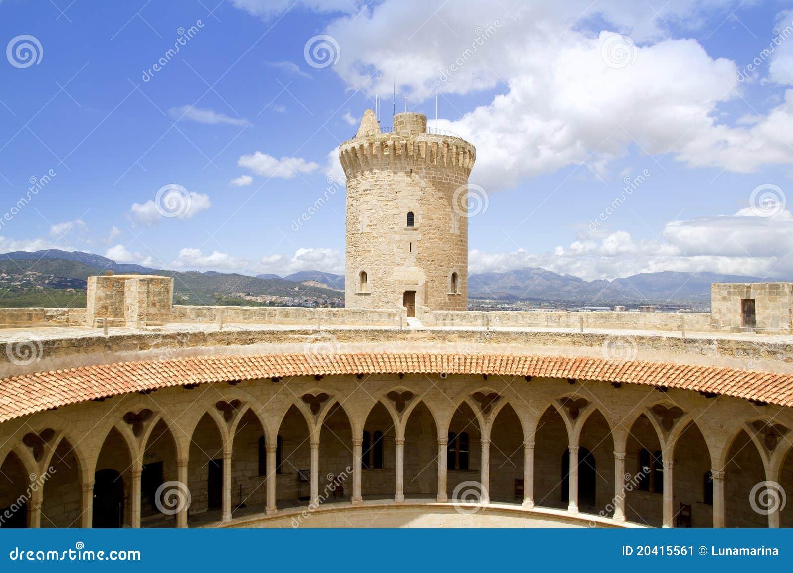 Download Castle Castillo De Bellver In Majorca Stock Image - Image of bastion, baleares: 20415561