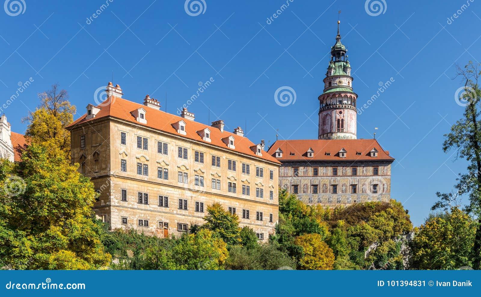 Castle of Cesky Krumlov in South Bohemia