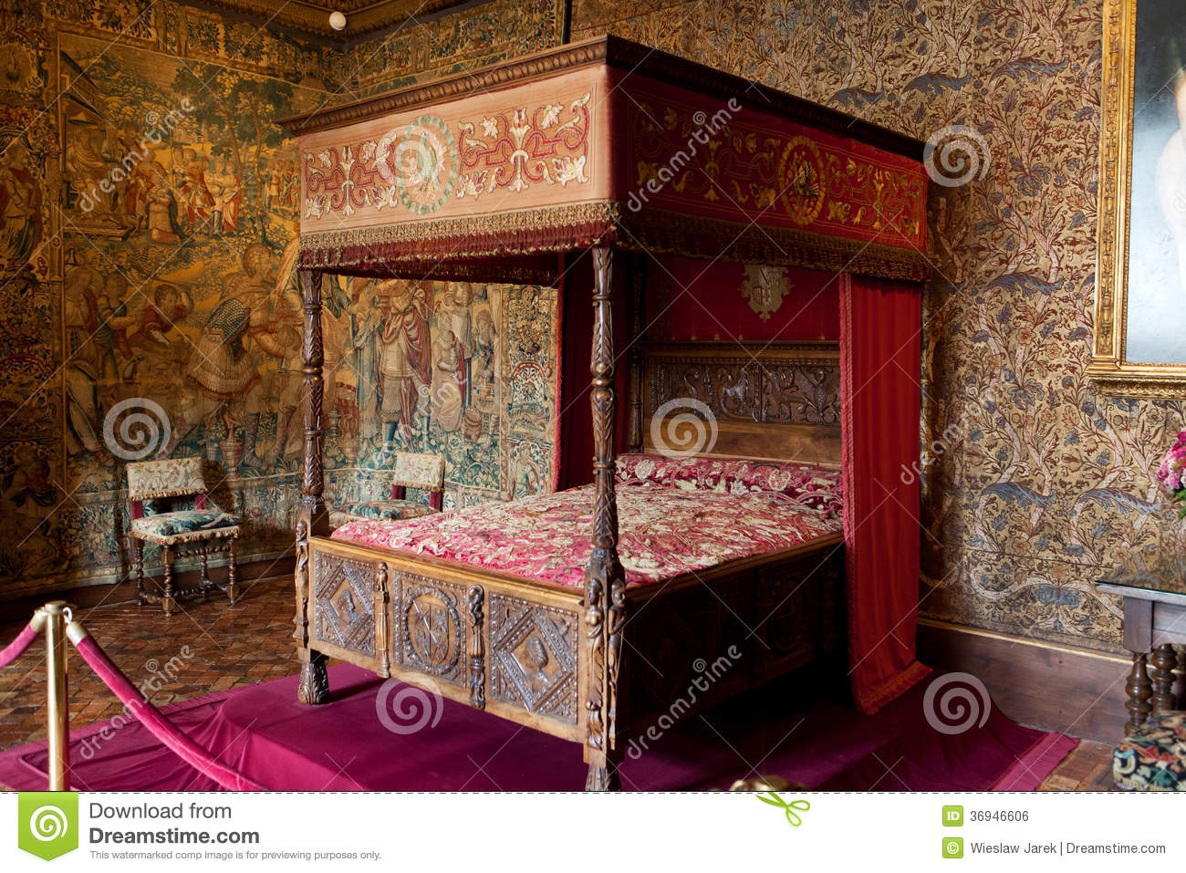 Castle of chenonceau interior stock photo image 36946606 for Chateau chenonceau interieur
